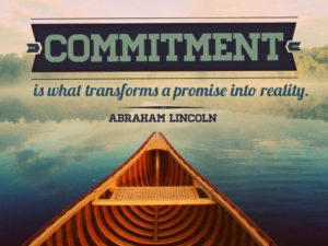 """Abraham Lincoln quote, """"Commitment is what transforms a promise into reality."""" Commit to Givent, Small business events"""