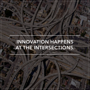 """""""Innovation happens at the intersections"""" quote at Givent, networking event in Idaho"""